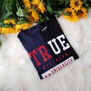 True Religion Uni Split Crew Neck Tee